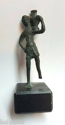 Antique Small Roman Bronze Statue Of Aquarius / 200-400 Ad / Very Rare