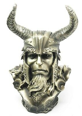 Norse Mythology Loki Shapeshifter God Bust Figurine Sculpture Viking Statue