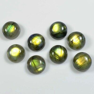11mm/ 10 PC AAA ADORABLE NATURAL LABRADORITE ROUND CABOCHON GEMSTONE A 005