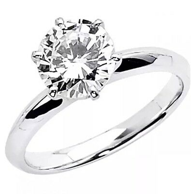 1 Ct Round Cut Solitaire Engagement Wedding Promise Ring Solid 9K White Gold