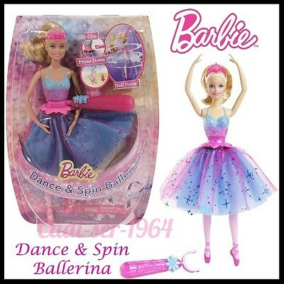 Barbie Dance And Spin Ballerina Doll Playsets Twirling Dancing Barbie New