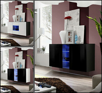 Modern Chest Drawers Cabinet Sideboard Buffet Cupboard High Gloss FLY Free P&P