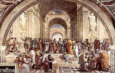 Raphael School of Athens Giclee Canvas Print