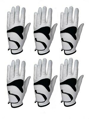 ***New***  (6)  Mens All Cabretta Leather Golf Gloves (Left Hand)