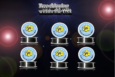 (6pcs)100ft Roll of Each Gauge 24,26,28,32,34,36 Nichrome 80 Resistance Wire