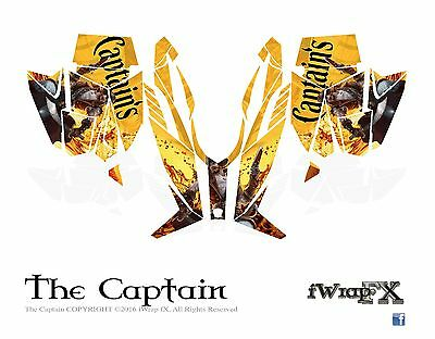 Captain Morgan inspired Arctic Cat Sled Wrap Decals ProCross-ProClimb 2012-2013