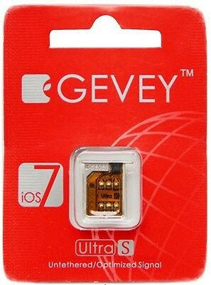 Gevey ultra s sim card Support unlock sim card for iphone 4s