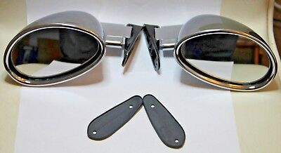 2 x CLASSIC SPORT WING MIRRORS VITALONI CALIFORNIAN CHROMED KIT BRAND NEW