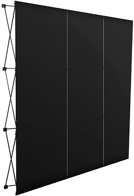 Display Exhibition Stand Black Advertising Panel Pop Up Rack Show Trade Sign