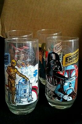 Star Wars Burger King set of 4 cups (1980)