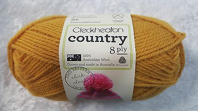 Cleckheaton Country #2361 Harvest Gold 100% Pure Wool 8 Ply 50g
