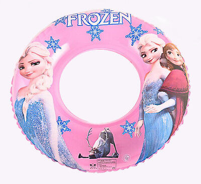 Frozen SWIMMING RING Girls Kids Inflatable Float Swim Trainer Pool toy 3-8y NEW!