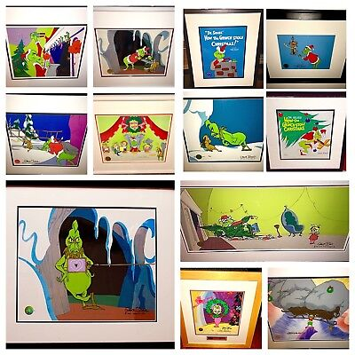 Vintage How The Grinch Stole Christmas Signed cel Original & Limited 25 pieces