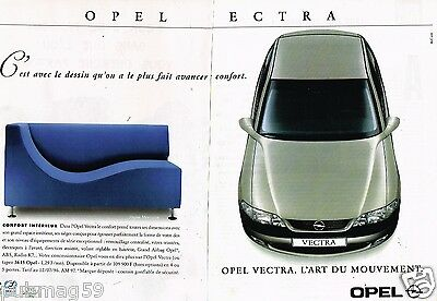 Opel Vectra 2 Pages Publicité Advertising 1990