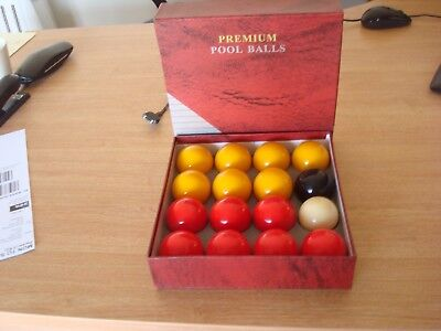 """Red And Yellow  Pool Balls 2"""" Size With 1 And 7/8Th White"""