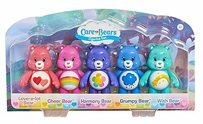 "Care Bears 3"" Articulated 5 Figure Pack - Love-a-lot Cheer Harmony Grumpy Wish"