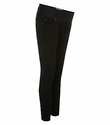 Maternity New Look (ex) Black Super Skinny Soft Jeans Under The Bump 8-18 Leg 30