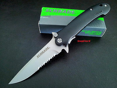 "Schrade 4.5"",Urban LIne Lock Drop Point Combo Edge SCH223S Folding Pocket Knife"