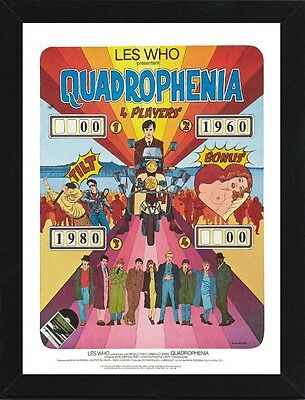 Framed Quadrophenia French Movie Poster A4 Size Mounted In Black / White Frame