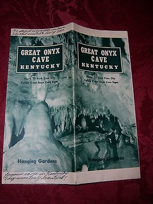 GREAT ONYX CAVE Vintage Visitors Brochure 1922