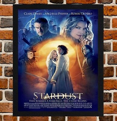 Framed Stardust Movie Poster A4 / A3 Size Mounted In Black / White Frame.