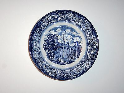 Vintage Staffordshire Liberty Blue China, Coup Cereal Bowl, Mount Vernon
