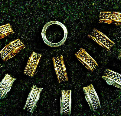 ANTIQUE SILVER~ANTIQUE GOLD~COLUMN~TIBETAN STYLE~SPACER BEADS~8x3.5 MM~5 MM HOLE