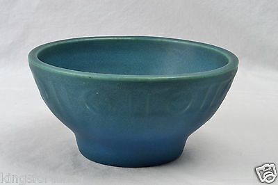 Rookwood Pottery Bowl, Blue Green Arts and Crafts Footed Bowl ( #1793), 1915