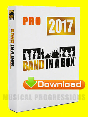 Band In A Box 2017 Pro Windows Download - Audio Music Software - Full Retail New