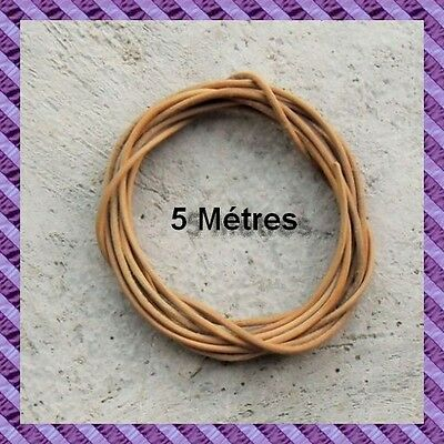 1 cordon leather length 5 Meters diameter 2 mm in one single piece