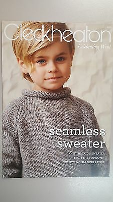 Cleckheaton Pattern Book #1010 Seamless Sweater to Knit Top Down 2-10 Years