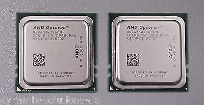 2x AMD Opteron 2431 Hexa Core CPU 6x 2,40 GHz Fr6 (1207) 6 Core Matched Pair