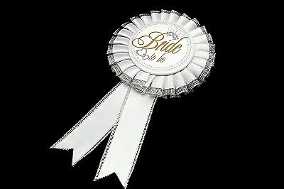 Hen Party Bride to Be Rosette Badge vintage wedding party