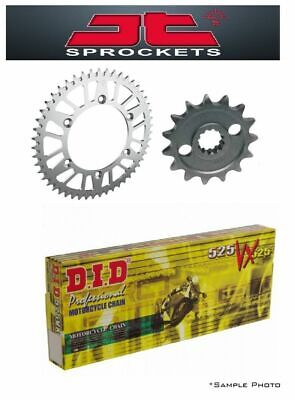 Suzuki DR650 96-13 JT and DID 525VX 15/42 X-ring Chain and Sprocket Kit