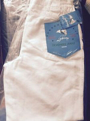 Wholesale Job Lot 100 Pairs Of Unisex White Jeans 24-36 Bagged Tagged