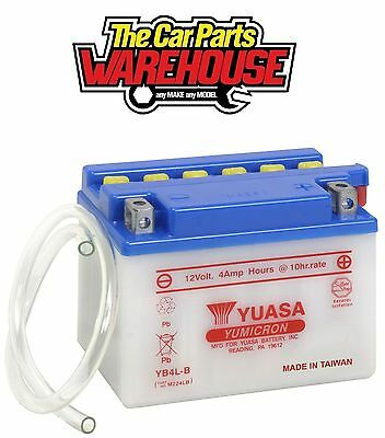 YB4L-B Genuine Yuasa Motorcycle ATV Quad Buggy Battery ⭐ With Acid Pack ⭐