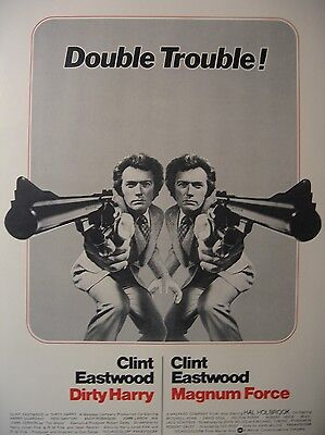 DIRTY HARRY/MAGNUM FORCE combo - Clint Eastwood-  original film / movie poster
