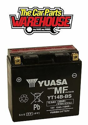 YT14B-BS Genuine Yuasa Motorcycle ATV Quad Buggy Battery xX With Acid Xx