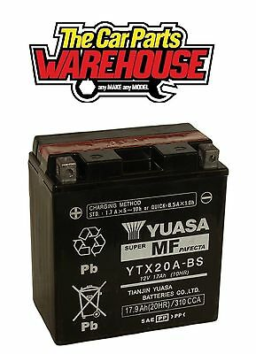YTX20A-BS Genuine Yuasa Motorcycle ATV Quad Battery With Acid Pack YTX20CH-BS