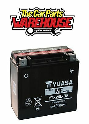 YTX20L-BS Genuine Yuasa Motorcycle ATV Quad Buggy Battery xX With Acid Pack Xx
