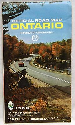 Province Of Ontario Canada Automobile Highway Road Map 1966 Vintage Travel