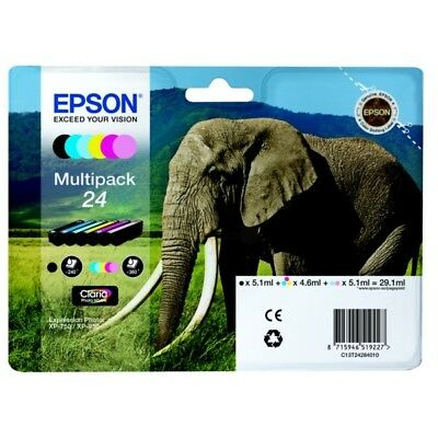 Genuine Black & Colour Ink Cartridge 6 Pack for Epson Expression Photo XP-760