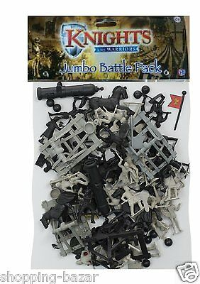Knights And Warriors Giant Battle Pack Plastic Toy Soldiers War Games Kids Gift
