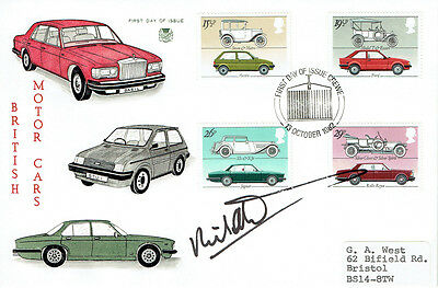 Richard ATTWOOD Signed Autograph First Day Cover Motor Cars FDC COA AFTAL