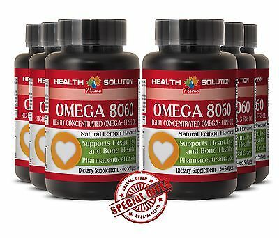 OMEGA 8060 Eye Health Product of Norway - Omega 3 Fish Oil 6 Bottles