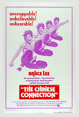 Bruce Lee The Chinese Connection 1973 Original Movie Poster 27x41 1 sheet
