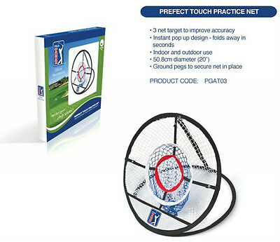 PGA Tour PGAT03 - Perfect Touch Chipping Practice Net + Training DVD Inside!!