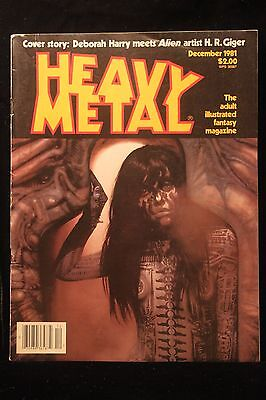 1981 Heavy Metal Adult  Magazine (Deborah Harry & Alien Artist Chris Giger NICE