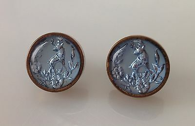 Antique Victorian Reverse Crystal Collar Buttons