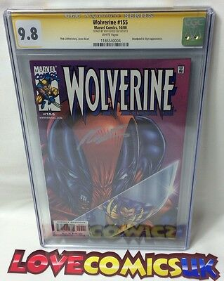 Wolverine #155 CGC 9.8 SS Signed Liefeld Deadpool Appearance Marvel Comics